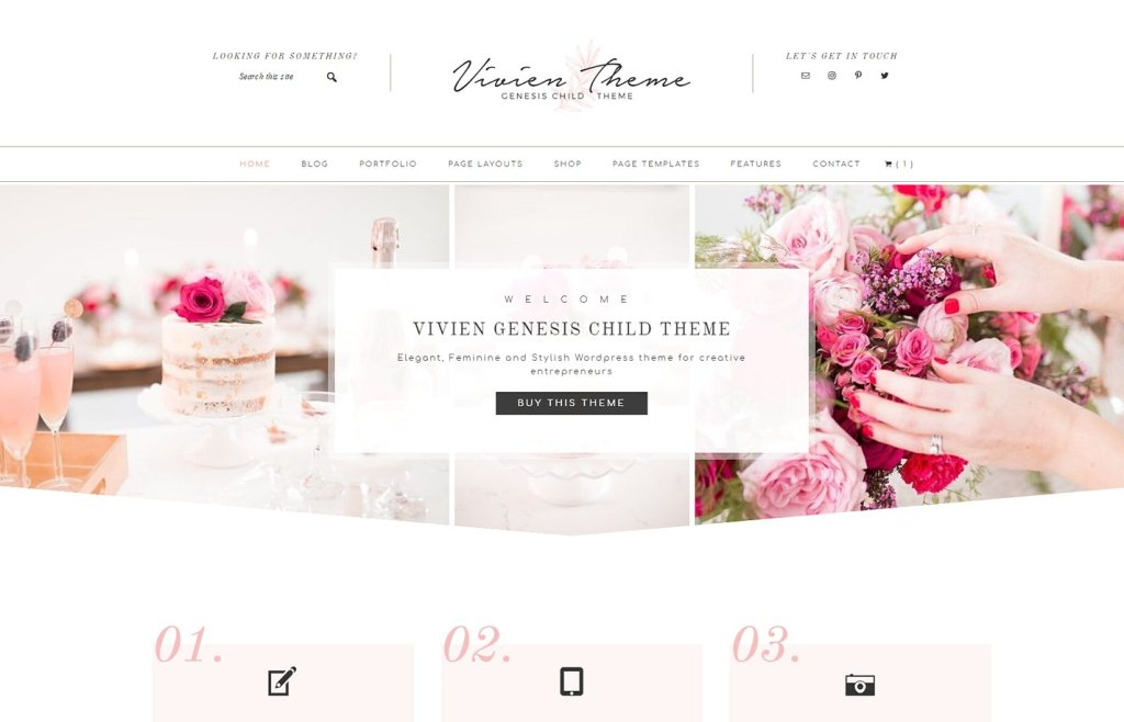 WordPress ecommerce theme built on the Genesis framework. This is an amazing feminine clean and modern WordPress theme. Find out more at Jennifer-Franklin.com.