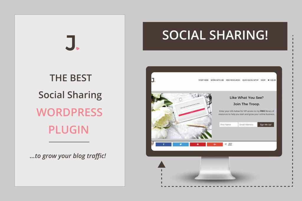 Best Social Sharing WordPress Plugin that I have found and recommend is Social Warfare by Warfare Plugins. Learn more at Jennifer-Franklin.com.