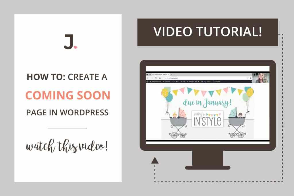 How To Create WordPress Coming Soon Page | Video Tutorial | Click through to watch the video at Jennifer-Franklin.com.