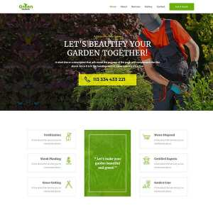 Ready Made Website | Get your professional looking landscape service website setup in one day and ready for you to add your content at Jennifer-Franklin.com.