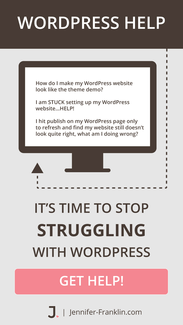 WordPress Website Help | WordPress Consultant | Jennifer-Franklin.com