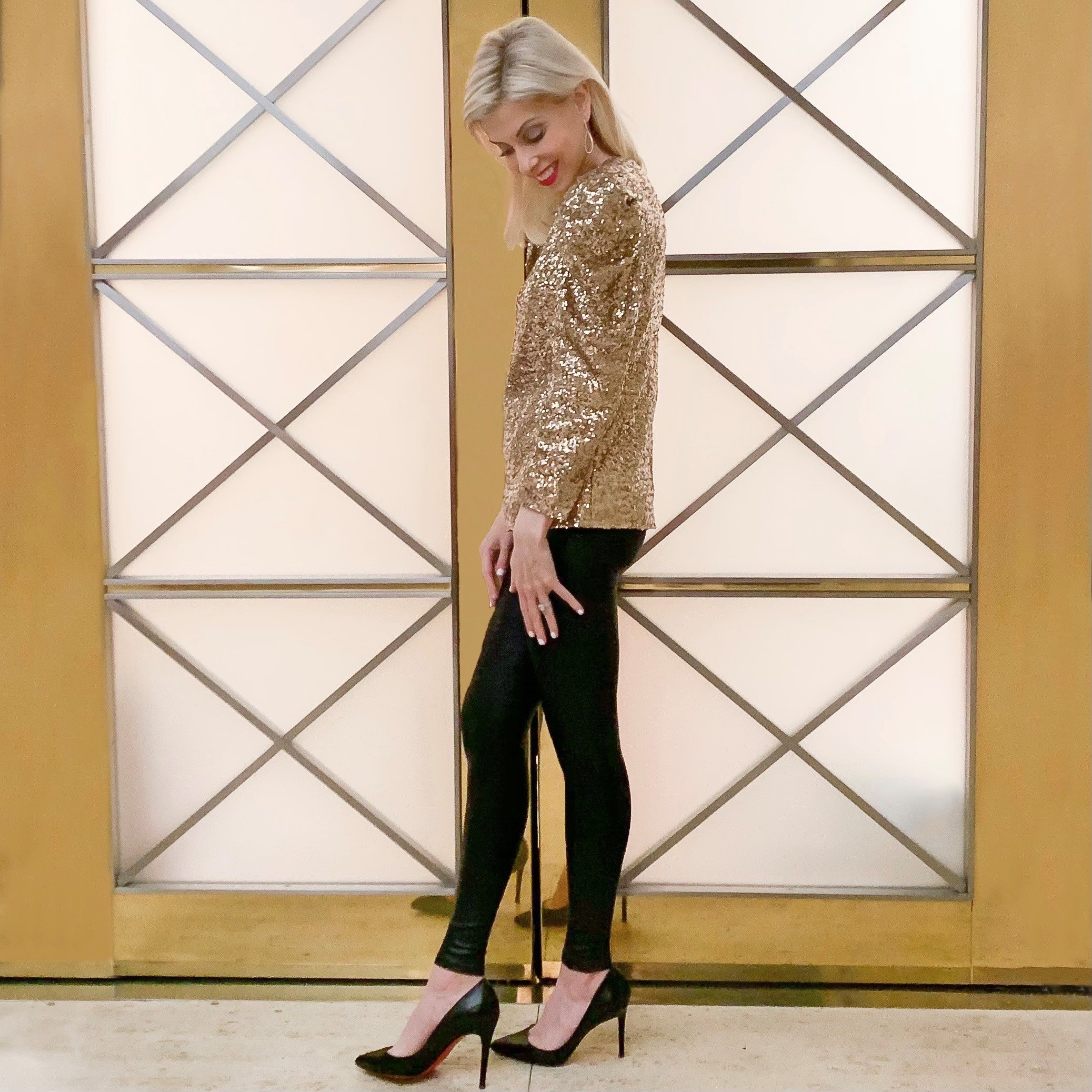 Gold sequin top