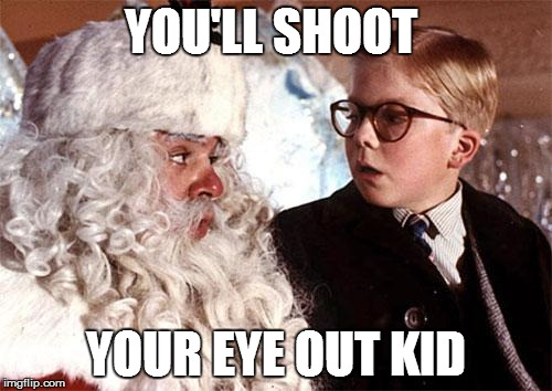 shoot eye out