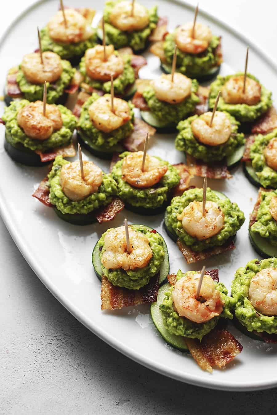 Keto Shrimp Guacamole And Bacon Appetizers