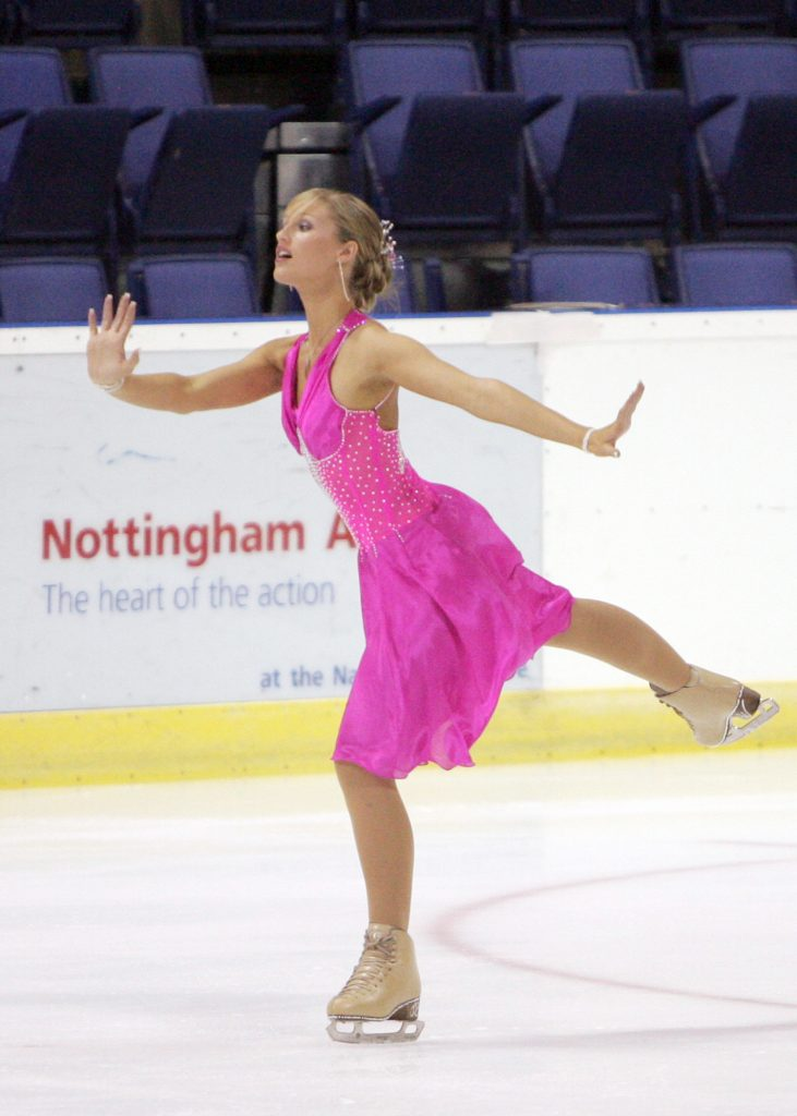 jennifer barnfield skating in the british championships 2005