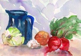 Beet-Still-Life,-by-Jennifer-Bentson,-Watercolor,-6'-x-4'