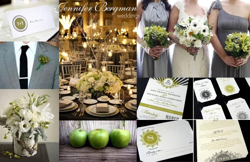 Grey And Green Wedding Inspiration Board Jennifer