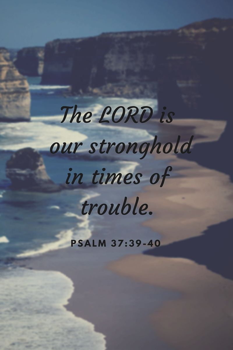 The LORD is our stronghold in times of trouble.