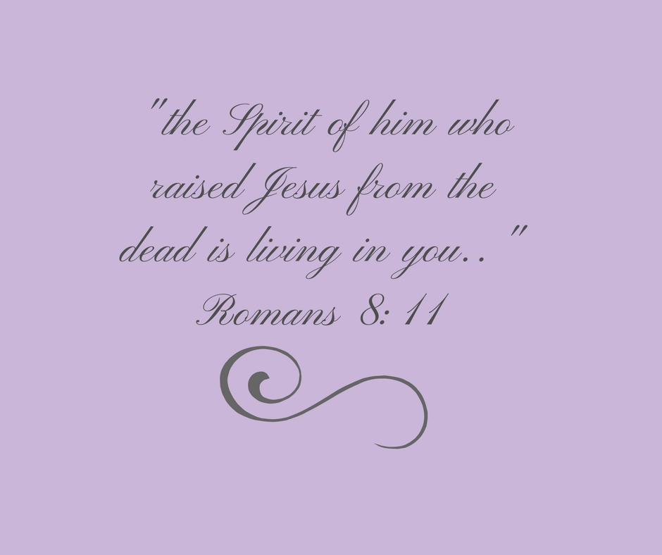 the Spirit of him who raised Jesus from the dead is living in you