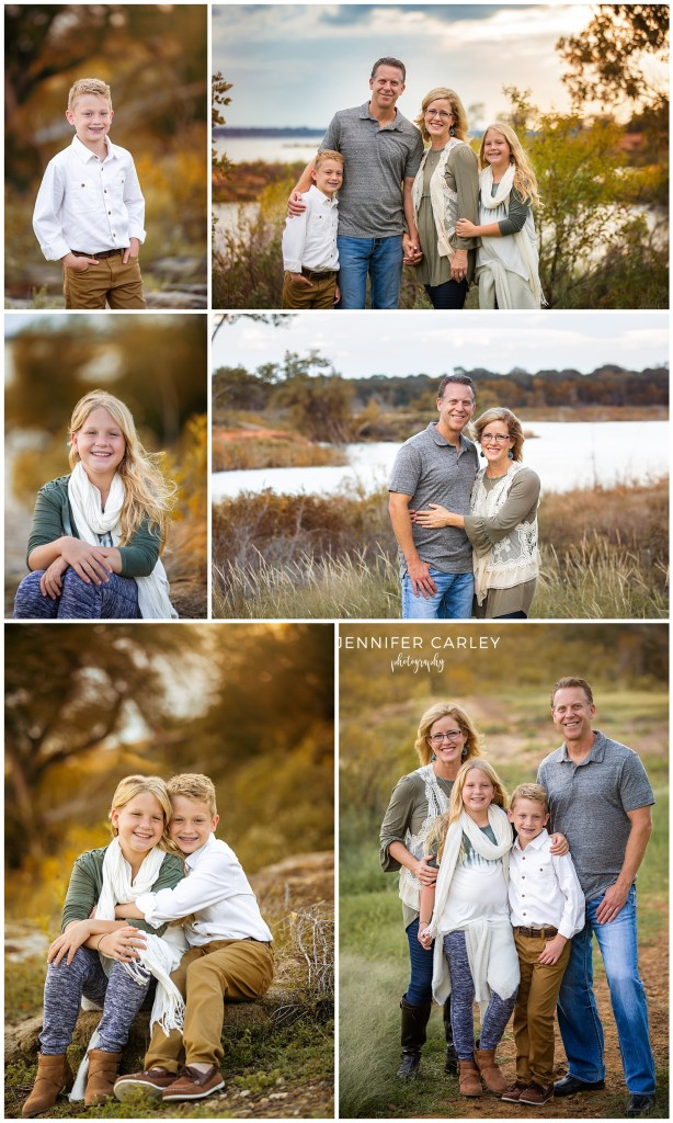 Flower Mound Family Fall Photos at Lake Grapevine