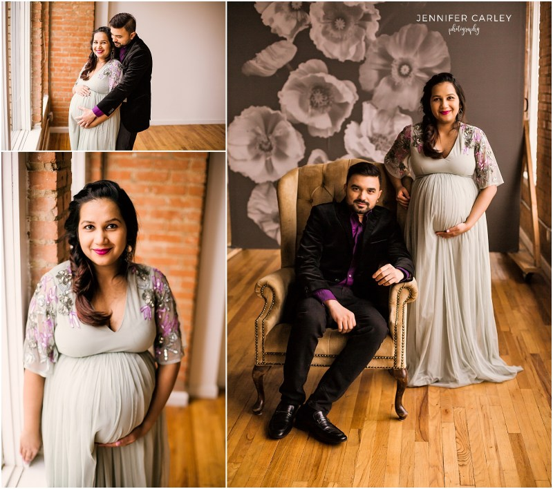 Dallas TX maternity newborn photography at The Lumen Room Red.