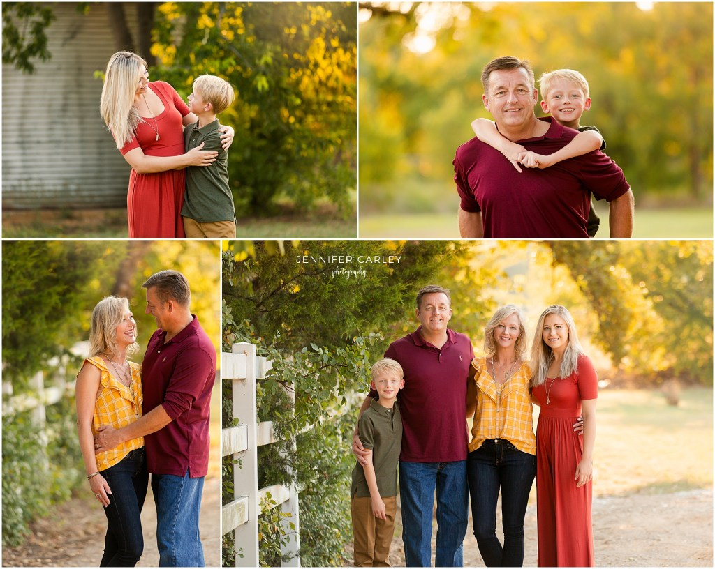 Fall Family Photography Flower Mound Green Acres Farm Memorial Park