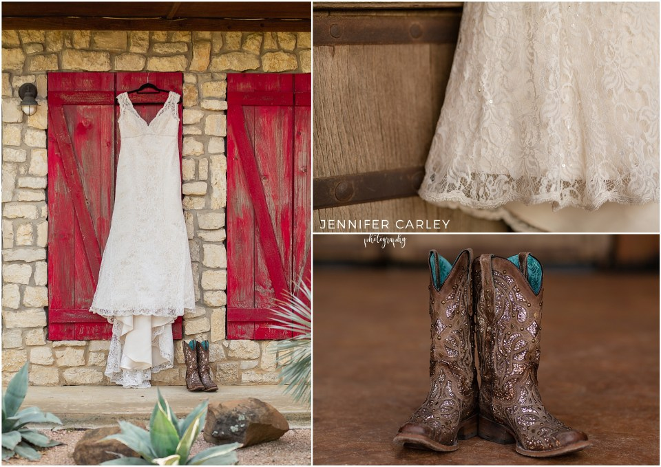 Wedding Dress, Lace Wedding dress, Bridal Portraits Texas Ranch, Texas Ranch Wedding, Cowboy Wedding, Western Bride, Lucky Spur Ranch, Justin Wedding, Flower Mound Wedding, cowboy boots, ranch wedding
