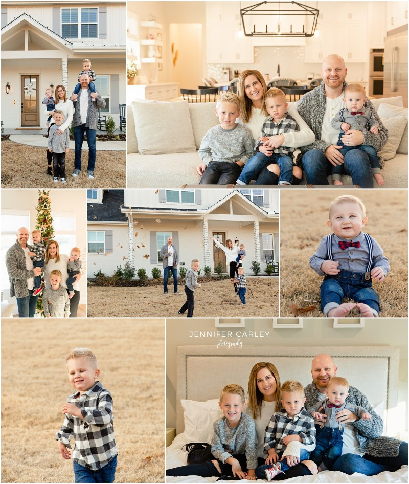 DFW Fall Family Portraits, Fall in Home Photos, All boy family, boy mom, new home, Lakeside Flower Mound, Christmas photos, Family Photos