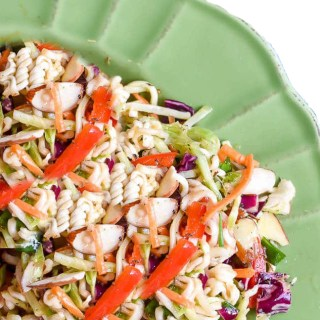 Crunchy Ramen Salad with Grilled Chicken