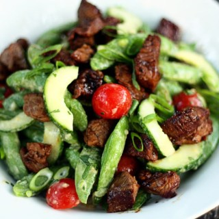 Asian Sugar Snap Pea and Steak Salad