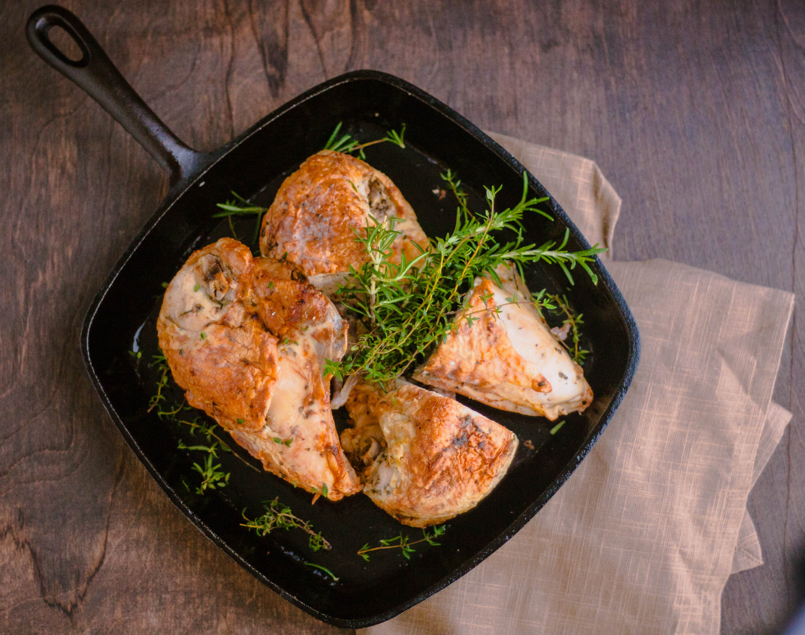 Roast chicken recipe cooking time