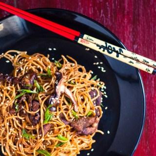 Ramen Pork Chow Mein