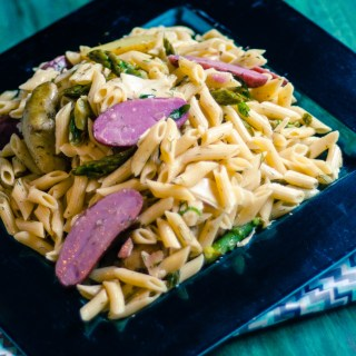 Spring Pasta Salad with Penne, Fingerling Potatoes and Dill