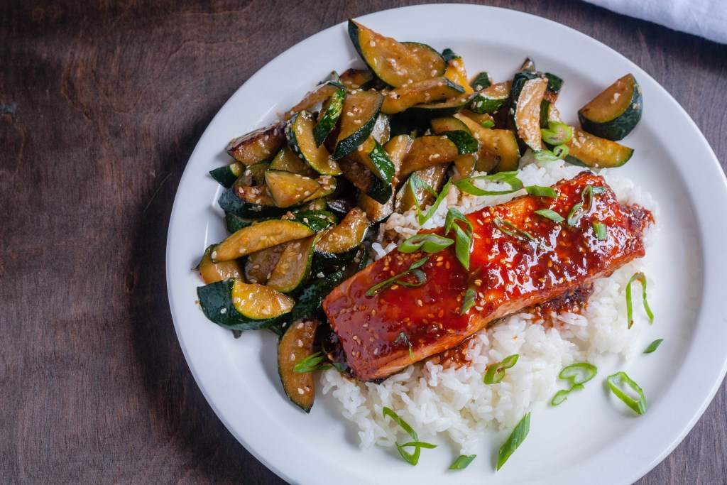 Citrus and Honey Glazed Salmon Teriyaki | Jennifer Cooks