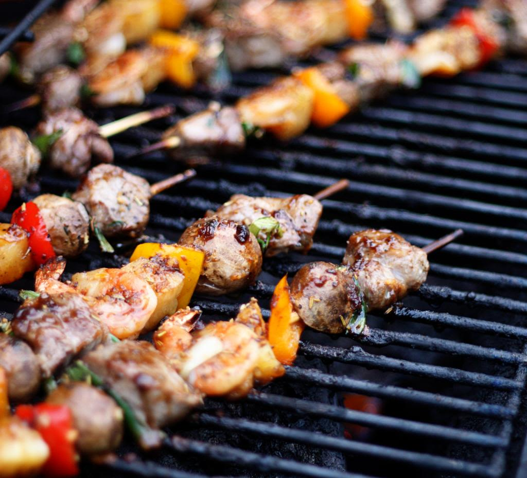 Steak and Shrimp Kabobs | Jennifer Cooks