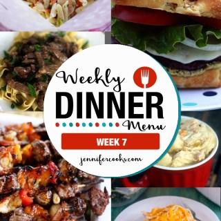 Weekly Dinner Menu: Week 7