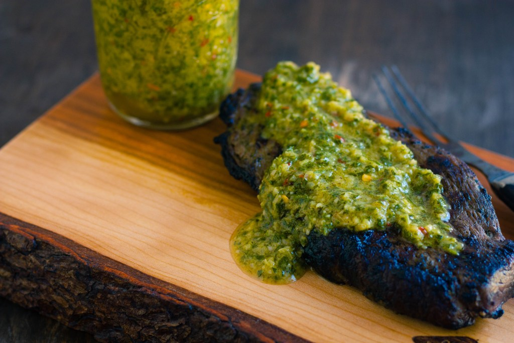 Grilled Sirloin Steak with Chimichurri Sauce | Jennifer Cooks