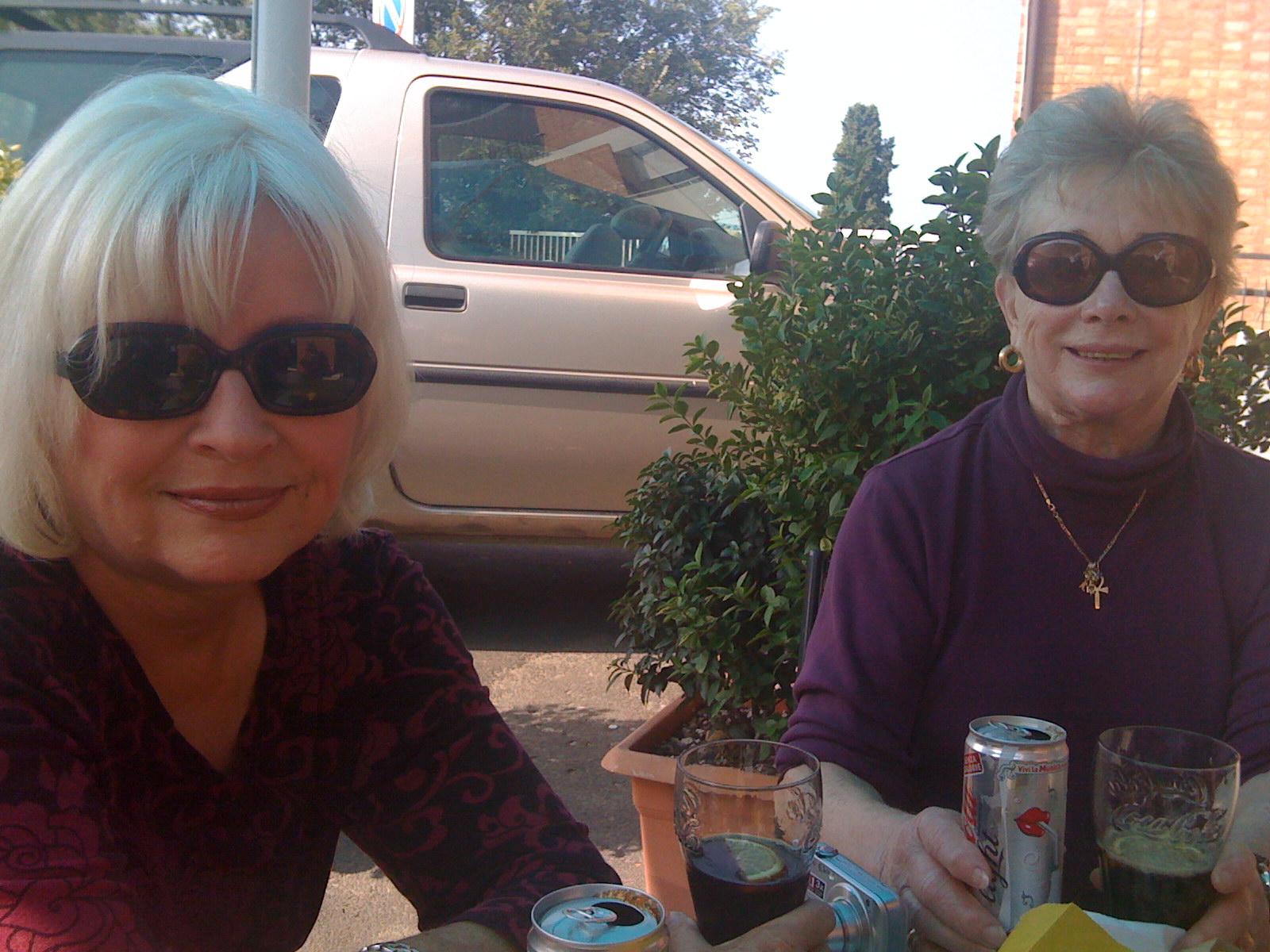 Nan and Susan at Angela's bar