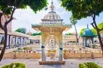 Jag Mandir palace courtyard
