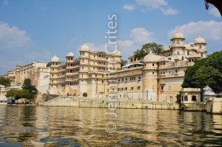 Udaipur's City Palace from Lake Pichola