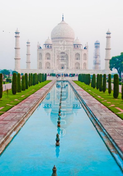 Classic shot, Taj Mahal and reflecting pool