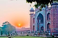 Taj Mahal entry at sunrise