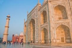 Taj Mahal closeup showing intricate marble detail