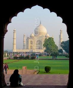 Taj Mahal through archway