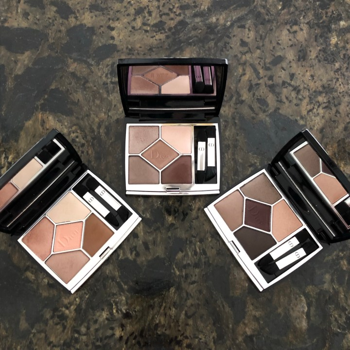 Dior New 5 Couleurs Couture Eyeshadow Quint Palettes: Soft Cashmere, New Look, and Nude Dress, Review and Swatches