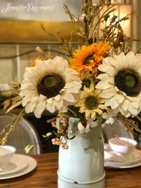 Autumn Floral Arrangement from JenniferDecorates.com