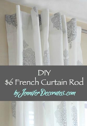 diy french curtain rod