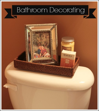 Accessorizing a bathroom from Jenniferdecorates.com