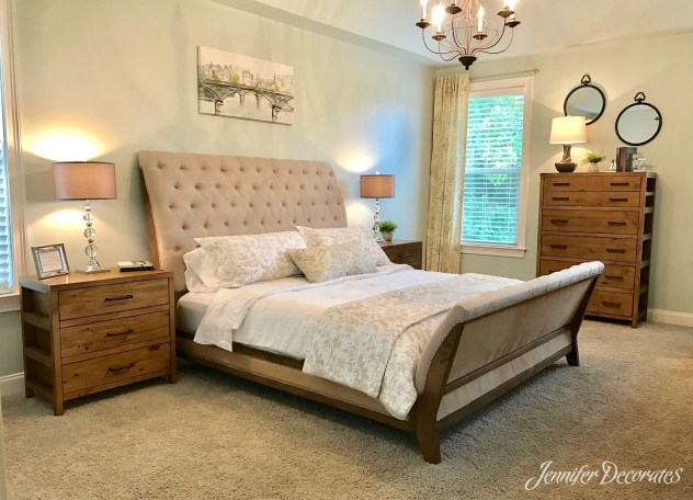 Master Bedroom Makeover - Jennifer Decorates