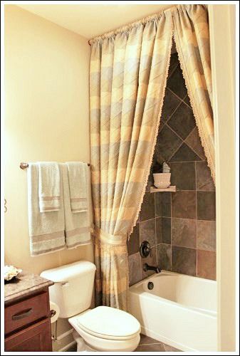 Bathroom Decorating Ideas To Help You Create Your Own Little Spa - Bathroom shower curtains and window curtains for bathroom decor ideas
