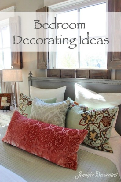 Bedroom Decorating Ideas from JenniferDecorates.com