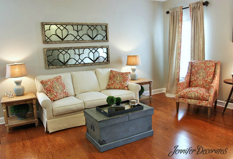 Decorating a Living Room from Jennifer Decorates.com
