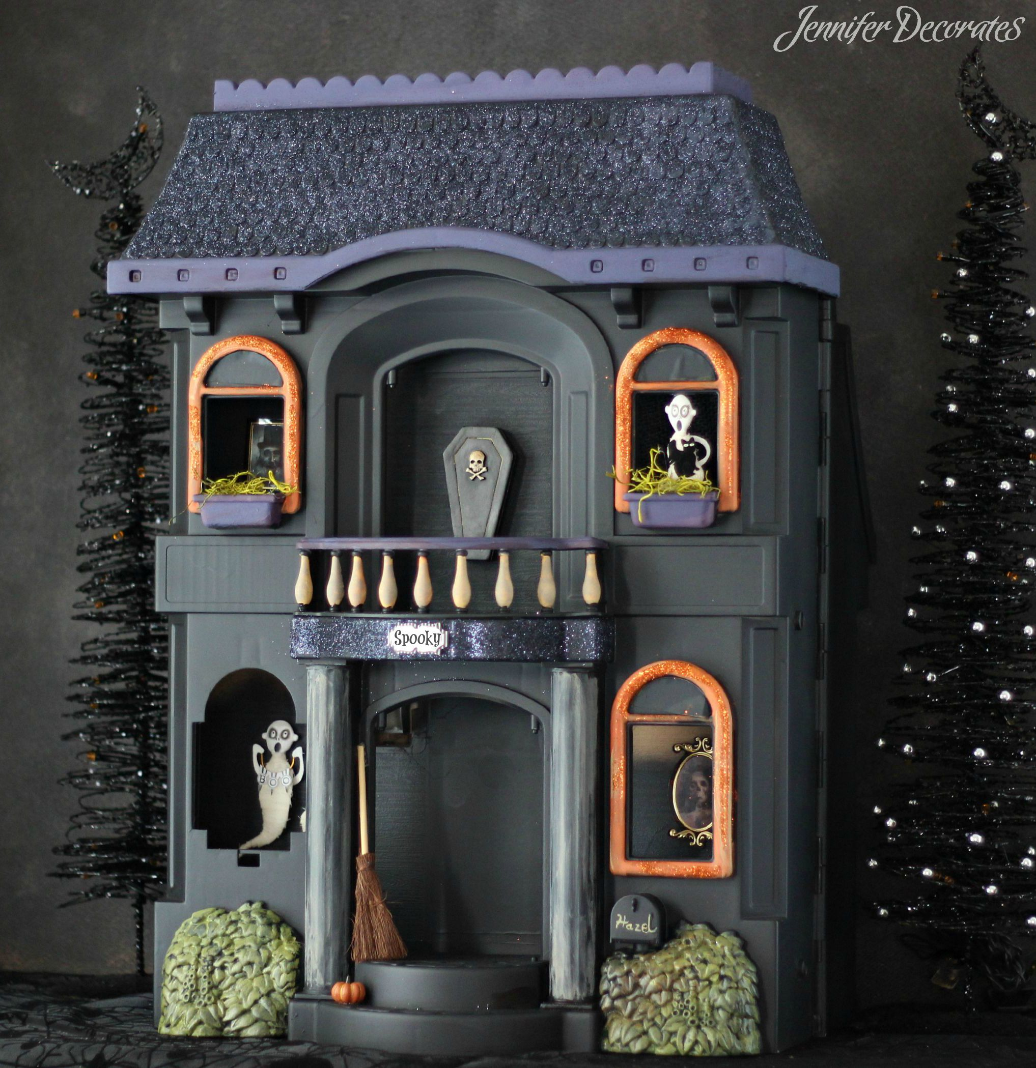 cheap halloween decorations jennifer decorates. Black Bedroom Furniture Sets. Home Design Ideas