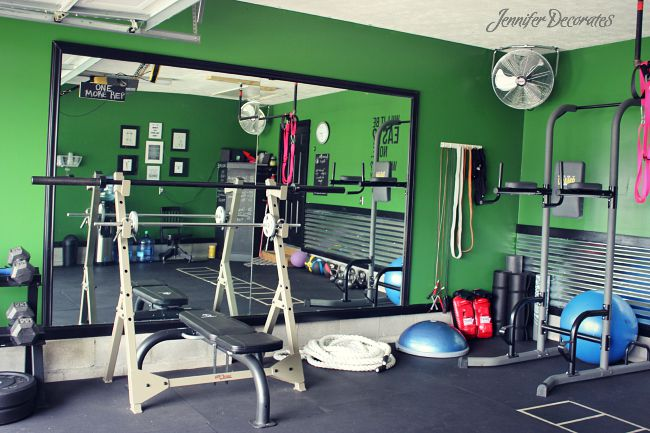 Cheap Home Gym from Jennifer Decorates.com
