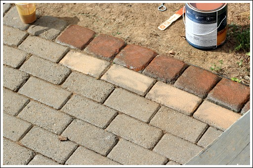 Concrete Patio Pavers U2013 Fabulous Update Using Concrete Stain!