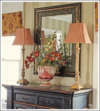 If You Decide To Go With The Buffet I Love A Floral Arrangement On Between Two Lamps Another Dining Room Decorating Idea Is Have Some