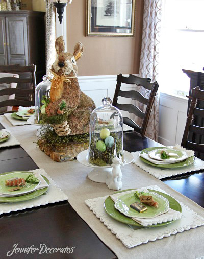 This Handsome Bunny Is The Center Of Attention At Table He Made Sisal And Jute These Types Little Critters Are Becoming Very Popular