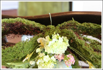 To Cover Your Flower Wire, Cut A Small Piece Of Moss And Hot Glue Onto The  Wire. The Only Wire That Should Show Is The One Used To Attach Your Moss  Bow ...