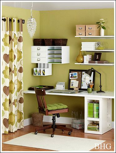 Home office decorating ideas create a comfortable working for Home office decor pictures