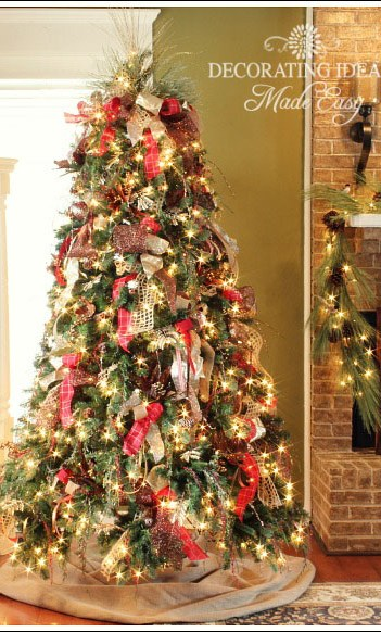christmas tree decorating ideas from jennifer decoratescom - Ways To Decorate A Christmas Tree